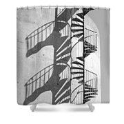 Shadowplay- Spiral Stairs Shower Curtain