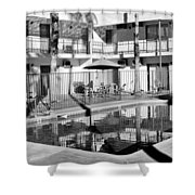 Shadows In Paradise Palm Springs Shower Curtain by William Dey