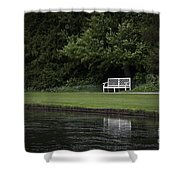 Shadows Of Time Shower Curtain