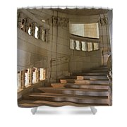 Shadows On Chateau Chambord Stairs Shower Curtain