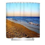 Shadows On Sand Beach Shower Curtain