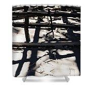 Shadows On Table Mountain Shower Curtain
