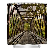 Shadows On The Walking Bridge Shower Curtain