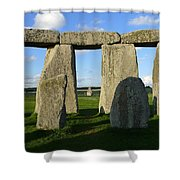 Shadowy Stonehenge Shower Curtain