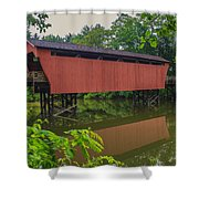 Shaeffer Or Campbell Covered Bridge Shower Curtain
