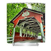 Shafer Covered Bridge Shower Curtain