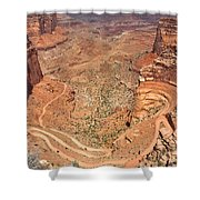 Shafer Trail Shower Curtain by Adam Romanowicz