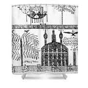 Shaker Drawing, 1845 Shower Curtain