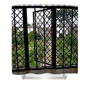 View Through Shakespeare's Window Shower Curtain
