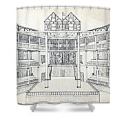 Shakespeares Globe Theatre Shower Curtain