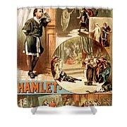 Shakespeare's Hamlet 1884 Shower Curtain