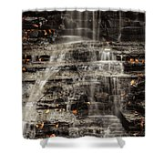 Shale Waterfalls Cascade Shower Curtain