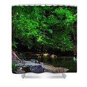 Shall We Gather At The River Shower Curtain