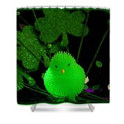 Shamrock Chick Shower Curtain