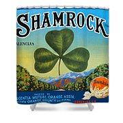 Shamrock Crate Label Shower Curtain