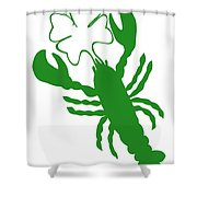 Shamrock Lobster With Feelers 458 20120114 Shower Curtain