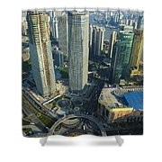 Shanghai From Above Shower Curtain