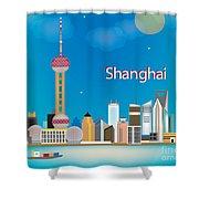 Shanghai Shower Curtain by Karen Young