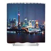 Shanghai Panorama Shower Curtain