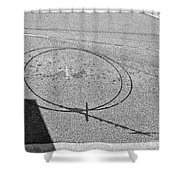 Shape And Shadow No.50 Gray Version Shower Curtain
