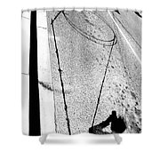 Shape And Shadow No.50 High Contrast Version Shower Curtain
