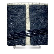 Shape No.35 Gray Scale Shower Curtain