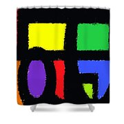 Shapes 14 Shower Curtain