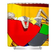 Shapes And Style Shower Curtain