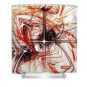 Shapes And Symbols Shower Curtain