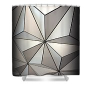 Shapes In Steel Shower Curtain