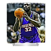 Shaquille O'neal Shower Curtain by Florian Rodarte