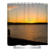 Shared Silhouette Shower Curtain
