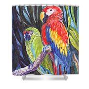 We Are Sharing A Perch  Shower Curtain
