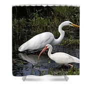Sharing The Fishing Grounds Shower Curtain