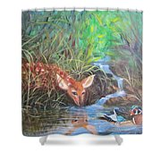 Sharing The Pond Shower Curtain
