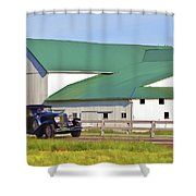Sharing The Road Shower Curtain