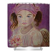 Sharissa Little Angel Of New Beginnings Shower Curtain