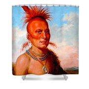Sharitarish. Wicked Chief. Pawnee Shower Curtain
