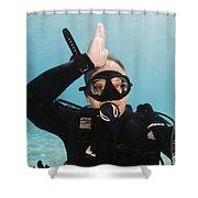 Shark Alert  Shower Curtain