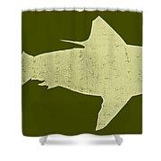 Shark Shower Curtain by Michelle Calkins