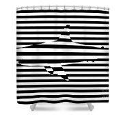 Shark Optical Illusion Shower Curtain by Pixel Chimp