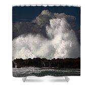 Sharks Cove Crashing Wave Shower Curtain