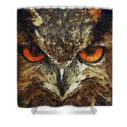 Sharpie Owl Shower Curtain by Ayse Deniz