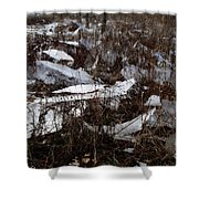 Shattered Field Shower Curtain