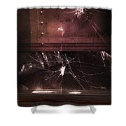 Shattered Window Shower Curtain