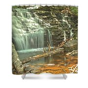 Shawnee Falls At Ricketts Glen Shower Curtain