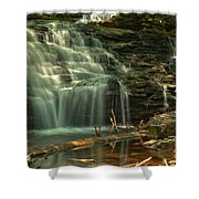 Shawnee Falls In The Spring Shower Curtain