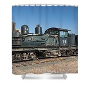 Shay Engine 14 In The Colorado Railroad Museum Shower Curtain