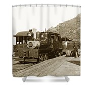 Shay No. 498 At The Summit Of Mt. Tamalpais Marin Co California Circa 1902 Shower Curtain