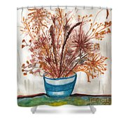 Shaylynne And Vaughn's Bouquet Shower Curtain